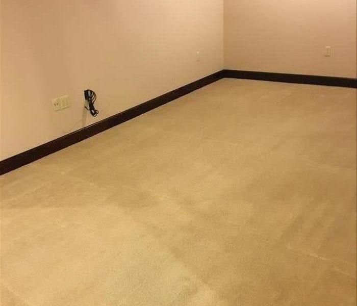 Carpet cleaning results after SERVPRO was finished cleaning  in Newberry, SC
