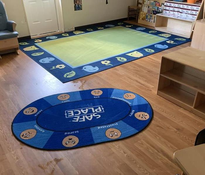 Areas rugs cleaned in a classroom in Clinton, SC