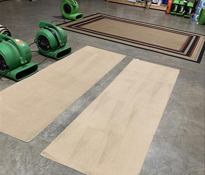 Area Rugs cleaned in our warehouse in Newberry, SC