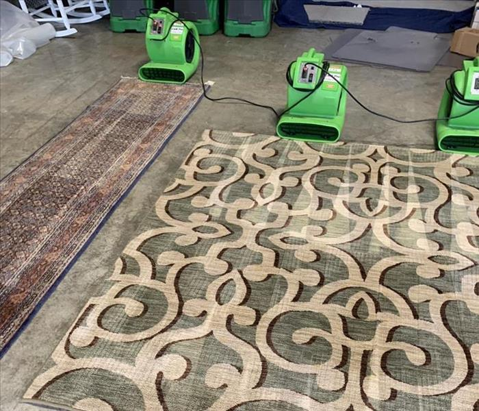 Area rugs professionally cleaned in our warehouse in Newberry, SC