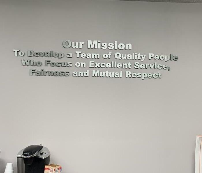 Our newly installed words of wisdom on the office wall in Newberry, SC