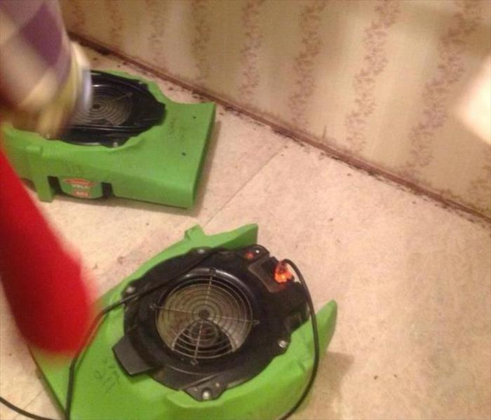 SERVPRO dryers working hard to remove the water damage in a home in Newberry, SC