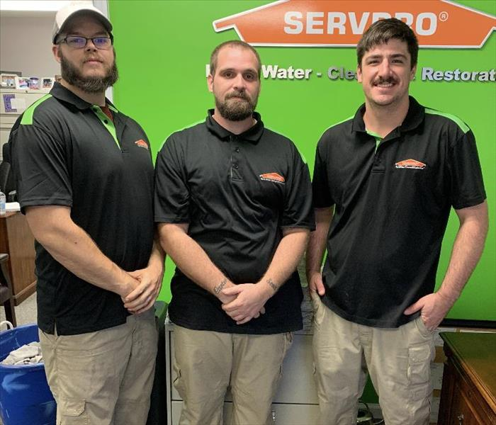 A seldom photo of our SERVPRO team not in action! - 3 men standing together.