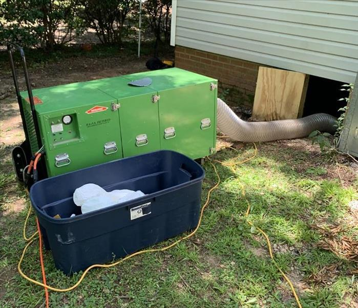 Air Duct Cleaning System set up outside preparing to clean the ducts at a home in Newberry, SC