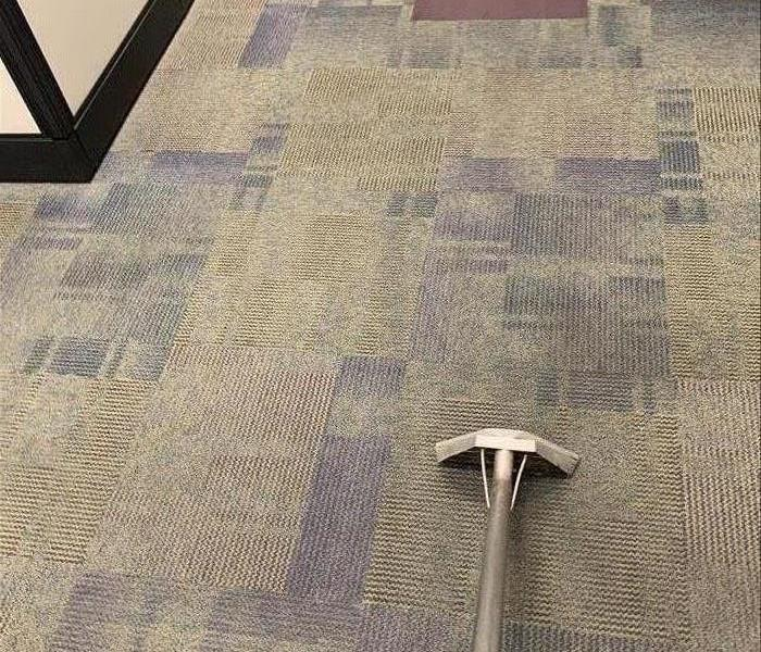 Carpet cleaning at a business in Clinton, SC